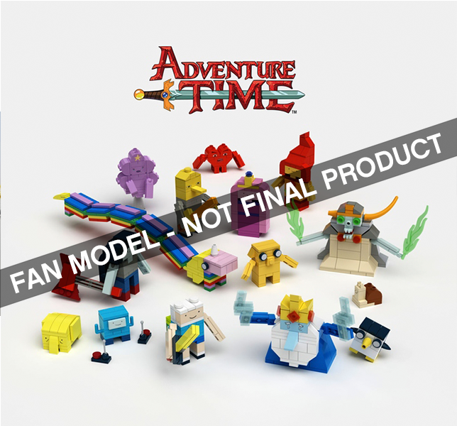 Brick-Built Adventure Time Figures