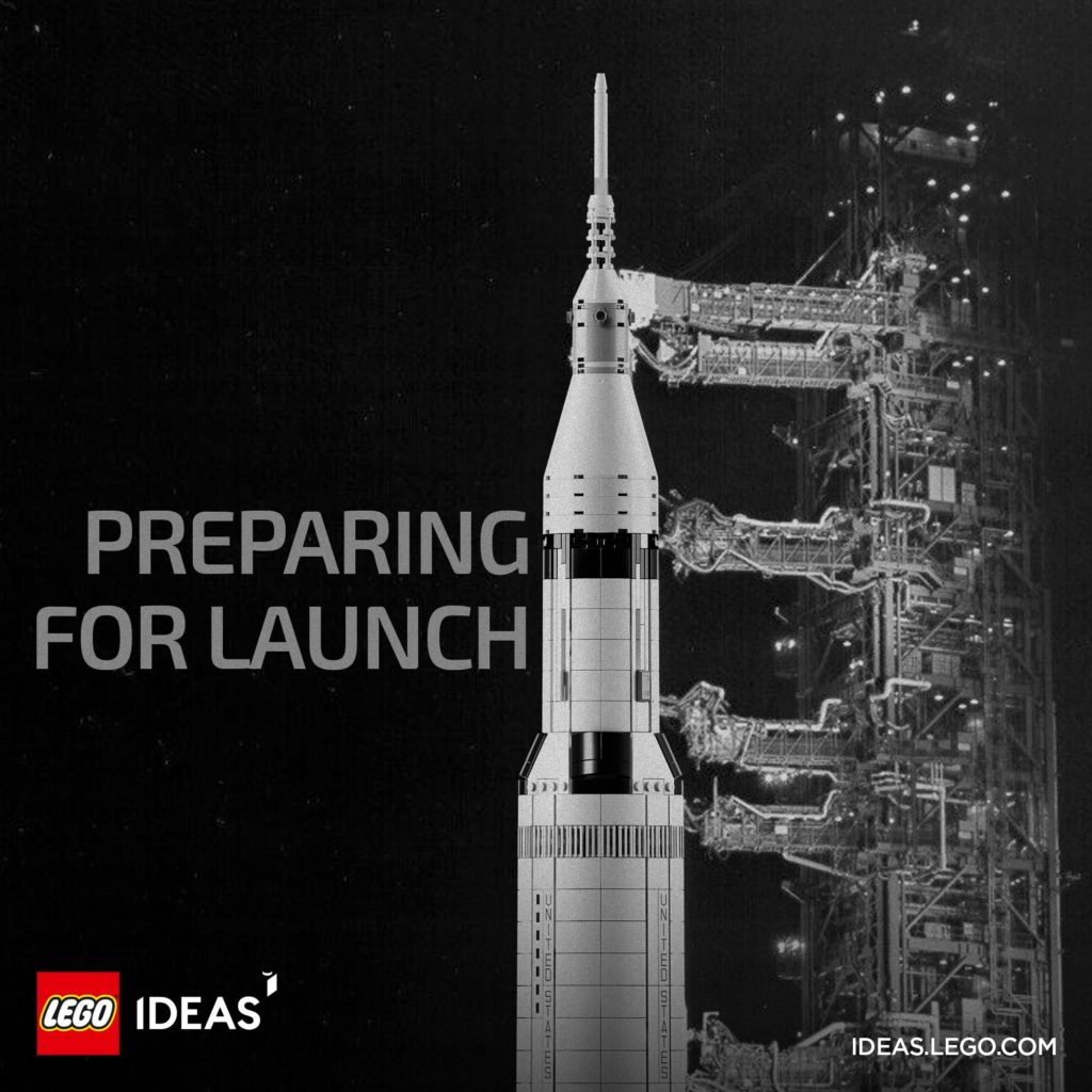 LEGO Ideas Apollo 11 Saturn-V rocket
