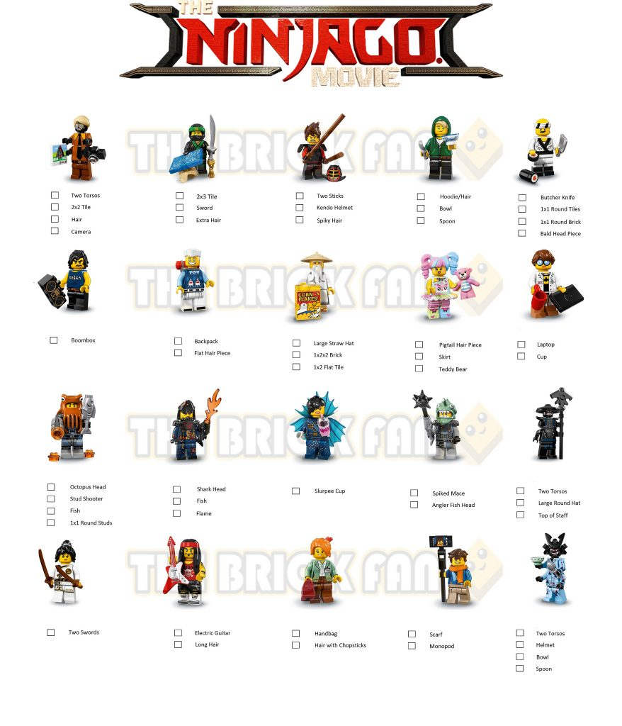 the lego ninjago minifigures feel guide